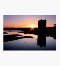 Belvelly Castle Sunrise Photographic Print