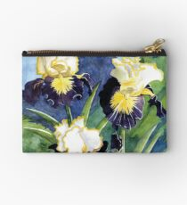 Watercolor Mountain Iris Zipper Pouch