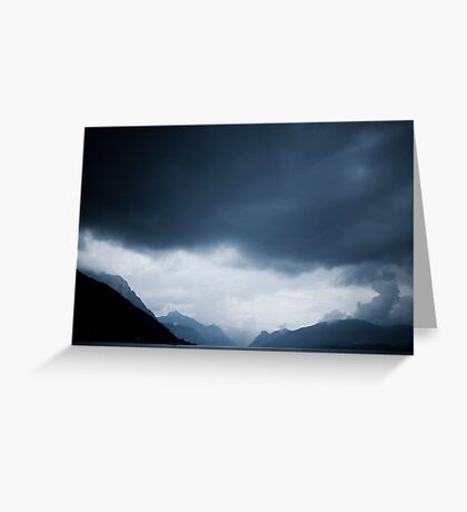 behind the clouds II Greeting Card