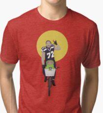 Michael Bennett Does Victory Lap With ET Tri-blend T-Shirt