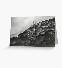 Monotone Mountain. Greeting Card