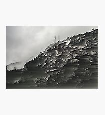 Monotone Mountain. Photographic Print