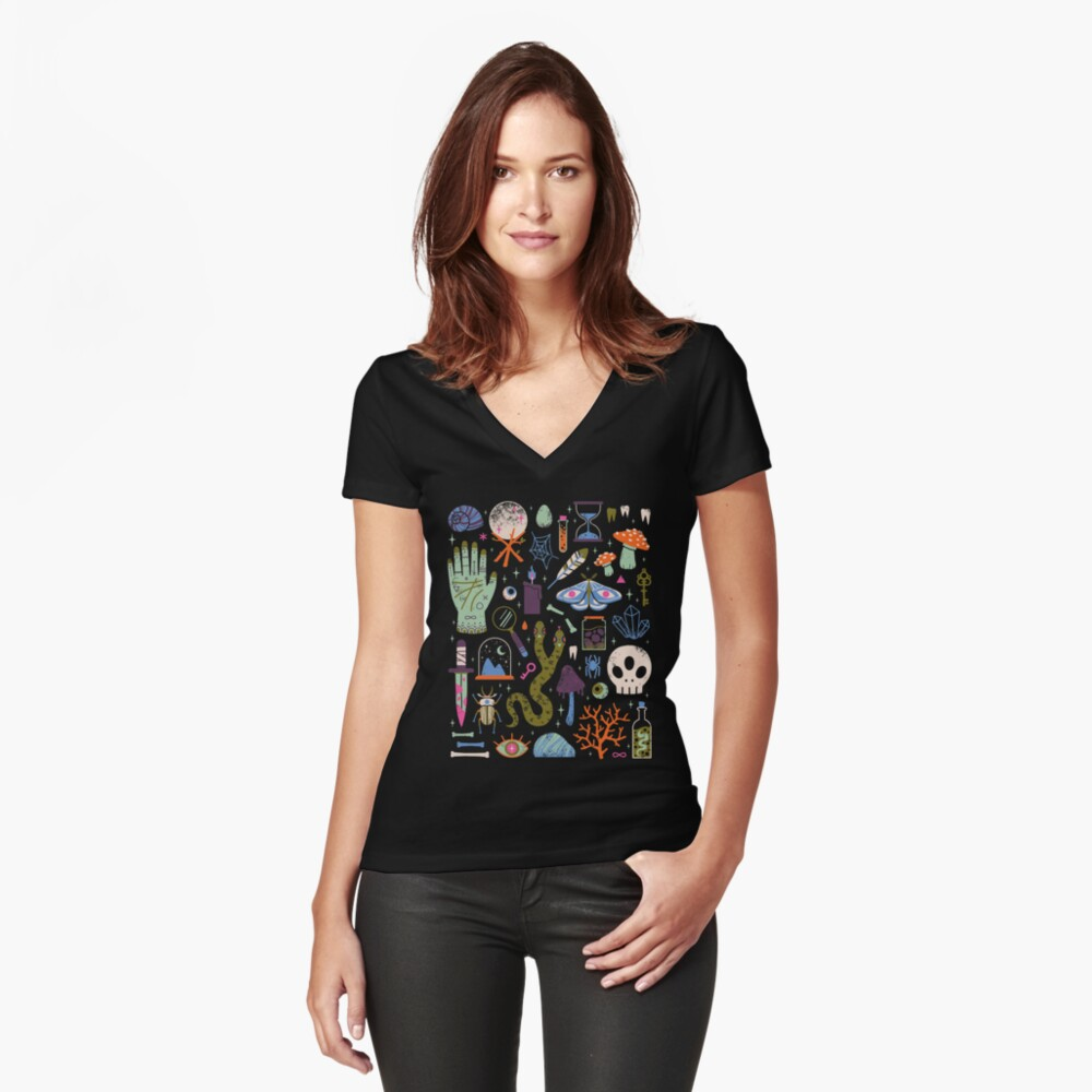 Curiosities Fitted V-Neck T-Shirt
