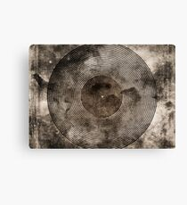 Vintage Vinyl Records Retro Music DJ Art - Old Vinyl Canvas Print