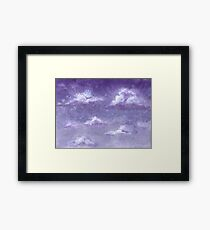 Violet Sky and White Clouds Framed Print