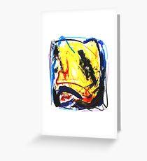 Crazy - Malerei - Jazzkeller Grußkarte