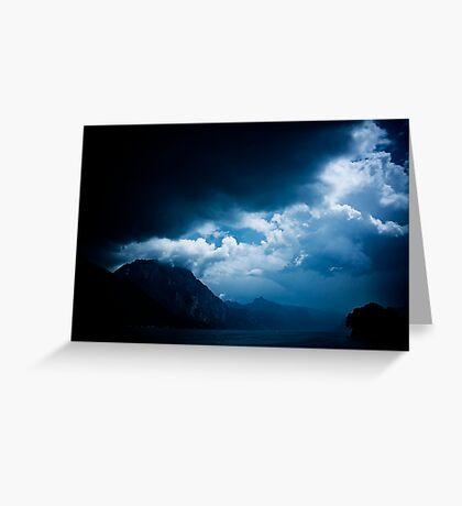 behind the clouds III Greeting Card