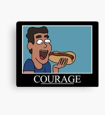 Courage (Rick and Morty) Canvas Print