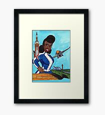 The Aviatrix of Avalon City Framed Print