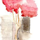 Watercolor Tree by Zaydalicious