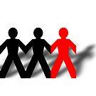 Group Man Red by Henrik Lehnerer