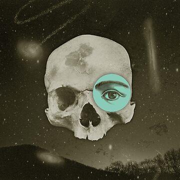 Skull Moon by lizzelizzel