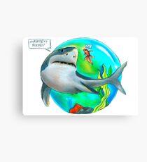 Best Friends- Shark and Goldfish Canvas Print