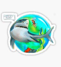 Best Friends- Shark and Goldfish Sticker