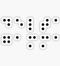 DG Braille Lettering Sticker