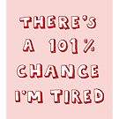 101% Chance I'm Tired | Red by meandthemoon