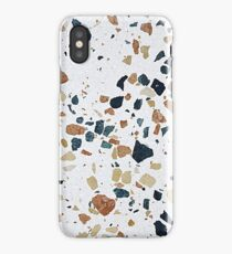 terrazzo multicolor white natural iPhone Case/Skin