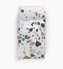 terrazzo multicolor white natural Duvet Cover