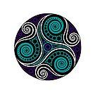 Celtic Triskell (blue)  by Antony Potts