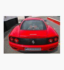 Ferrari 360 rear end Photographic Print