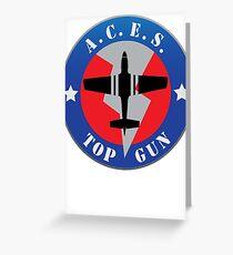 Top Gun Logo Greeting Card