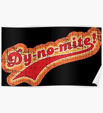 """Dy-no-mite!"" Vintage 1970s Design Poster"