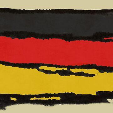 Flag of Germany Rough Sketch by cephasgarrett