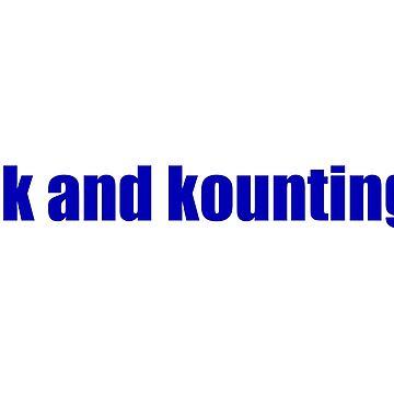 1k and kounting! (blue logo) by jdbruegger