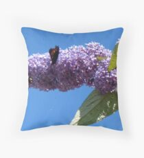 Butterfly on the Buddleja Throw Pillow