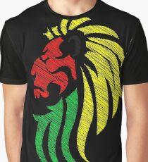 Lion Reggae Flag Colors  Graphic T-Shirt