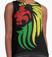 Lion Reggae Flag Colors  Contrast Tank