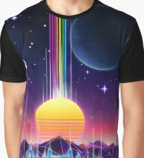Neon Sunrise Graphic T-Shirt
