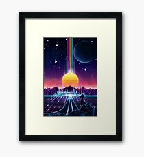 Neon Sunrise Framed Print
