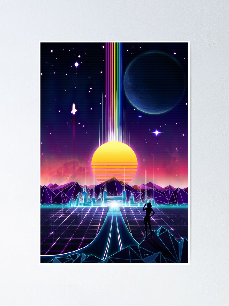 Alternate view of Neon Sunrise Poster