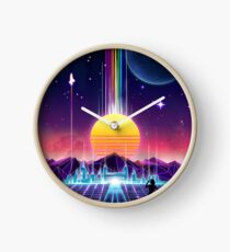 Neon Sunrise Clock