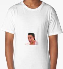Ugly Kim Crying Face Long T-Shirt