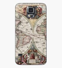 Vintage Maps Of The World. Geographic and Hydrographic Map of the Whole World Case/Skin for Samsung Galaxy