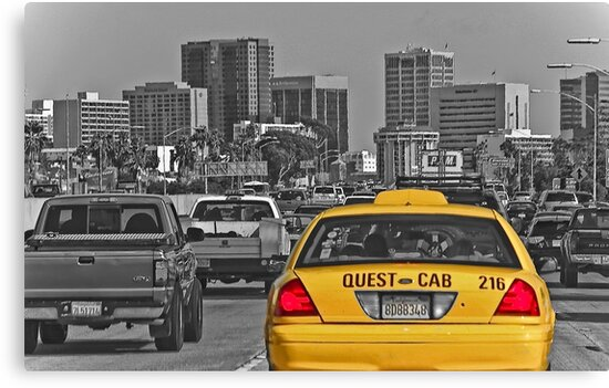 Welcome to San Diego-Yellow Cab by Heather Friedman