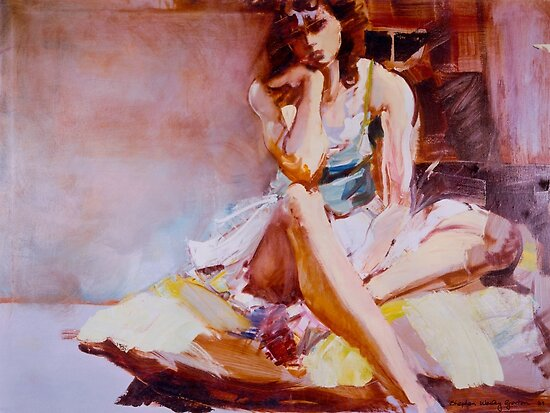 Lavinia on a Cushion by Stephen Gorton