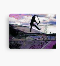 Deck Grab Champion - Stunt Scooter Art Canvas Print