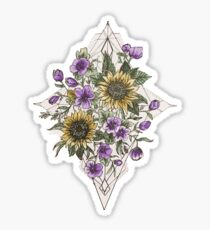 Geometric Sunflower Pattern Sticker