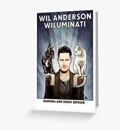 Wil Anderson WILUMINATI (Ramona and Ziggy) Greeting Card