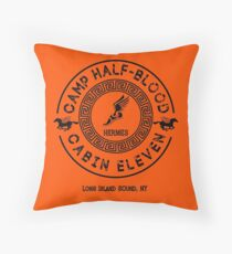 Percy Jackson - Camp Half-Blood - Cabin Eleven - Hermes Throw Pillow