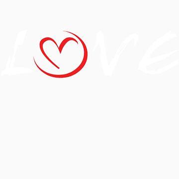 LOVE (for dark apparel) by Stitcherladyxx