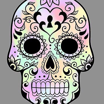 Tie-Dye Sugar Skull by totoislostinoz