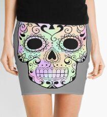 Tie-Dye Sugar Skull Mini Skirt
