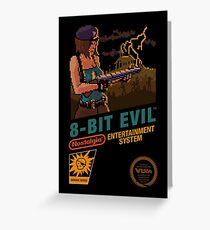 8 Bit Evil Greeting Card
