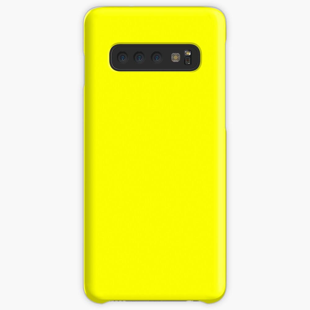 Neon fluorescent Yellow | Yellow|neon Yellow/Fluro Yellow Case & Skin for Samsung Galaxy