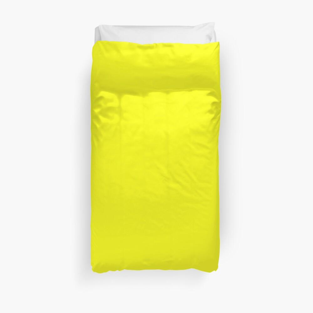 Neon fluorescent Yellow | Yellow|neon Yellow/Fluro Yellow Duvet Cover