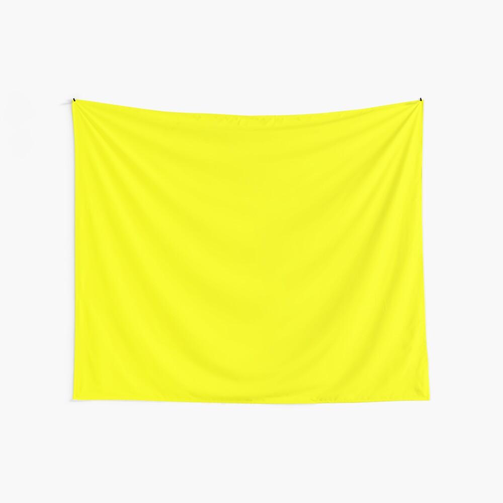 Neon fluorescent Yellow   Yellow neon Yellow/Fluro Yellow Wall Tapestry